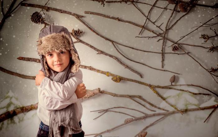 Fotos de niños y niñas en estudio para Navidad