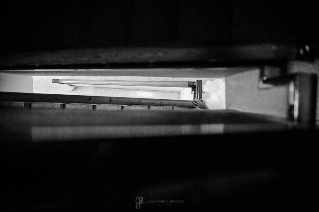 fotos de hueco de la escalera de boda civil en Palacio de los Medinilla