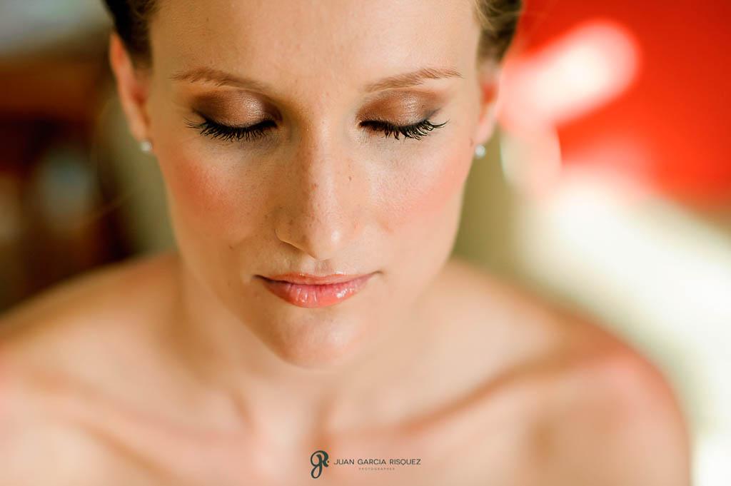 reportaje de boda en Finca Casa de Oficios ojos de la novia