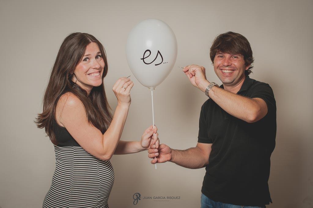 reportaje fotográfico de embarazo en estudio