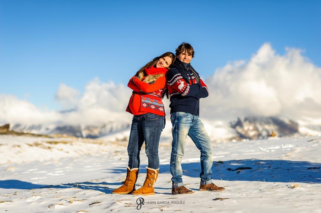 reportaje fotográfico en la nieve de embarazo