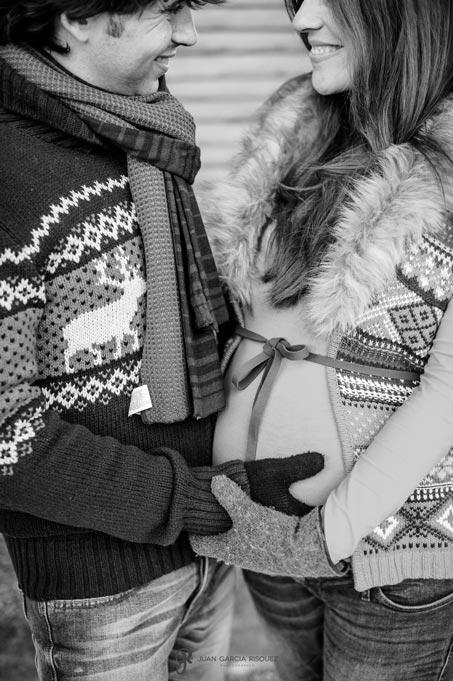 reportaje de fotos cariñosas de embarazo