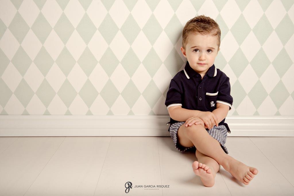 reportaje de fotos de niños en estudio profesional