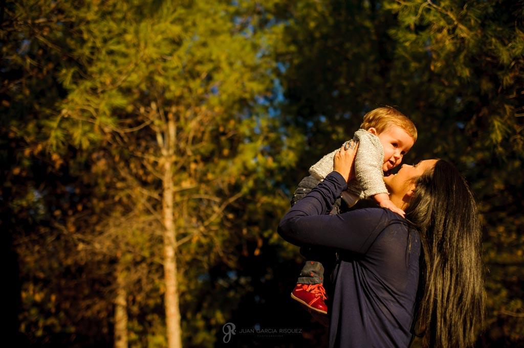 reportaje de fotos cariñosas en familia