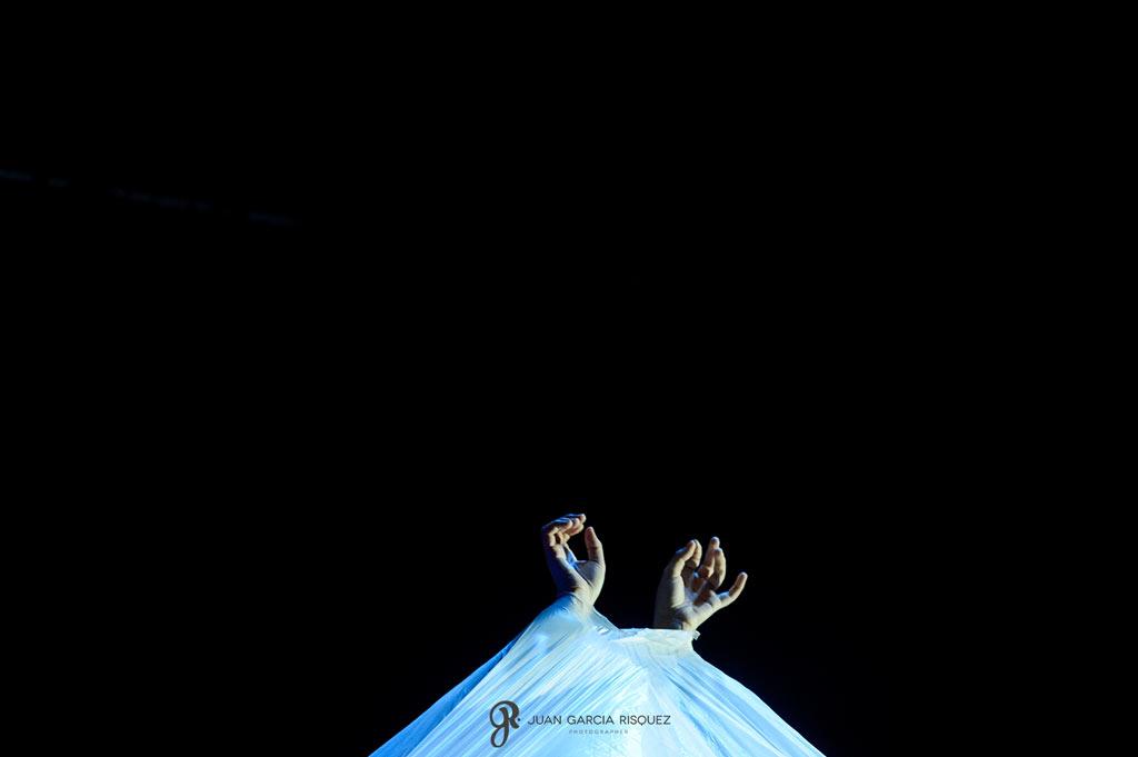 Fotografías diferentes de una representación teatral