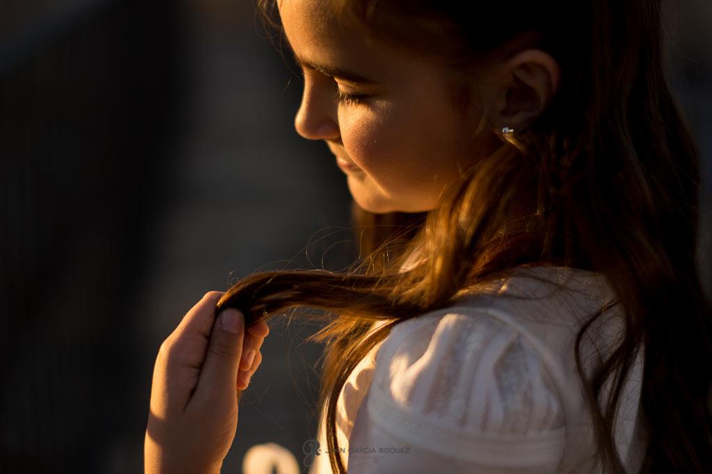 fotos de niñas en su reportaje de comunión