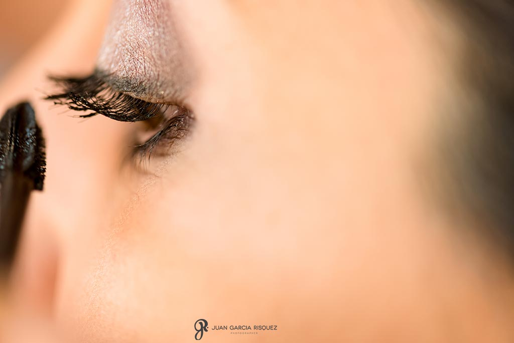 Foto detalle de un ojo de la sesión fotográfica