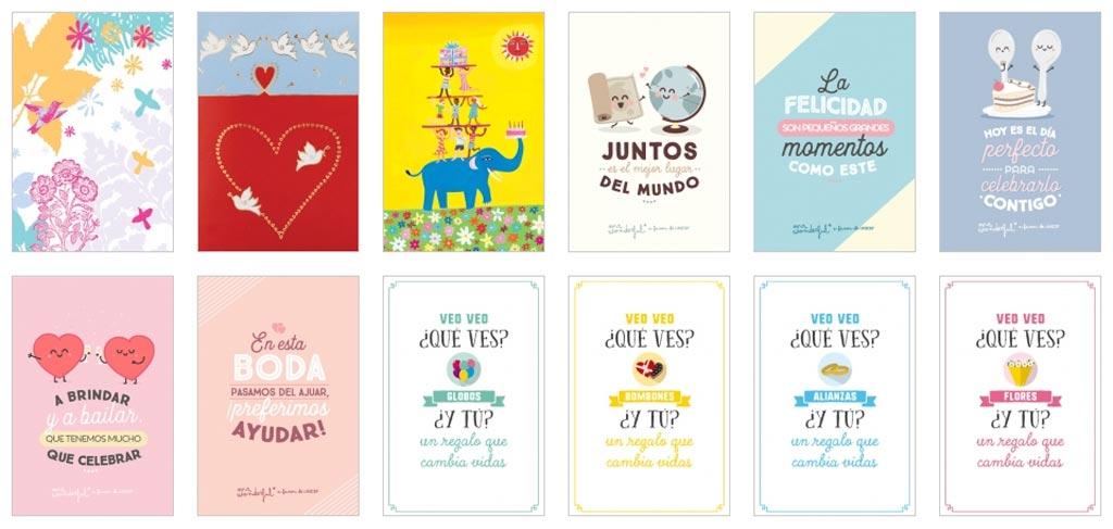 Modelos de tarjetas de unicef para regalar a los invitados de la boda