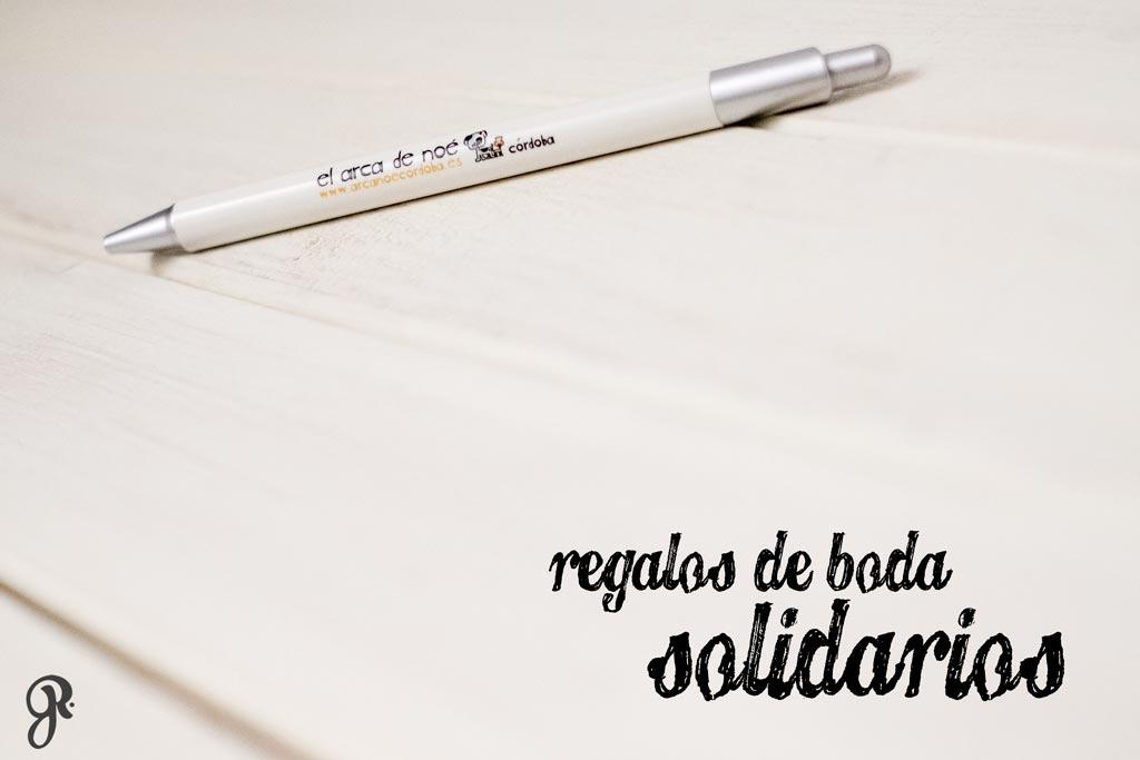 Bolígrafo personalizado como regalo para los invitados de la boda