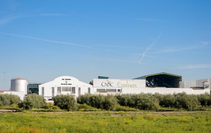 Vista general de una almazara en su sesión de fotos corporativas profesionales en Jaén