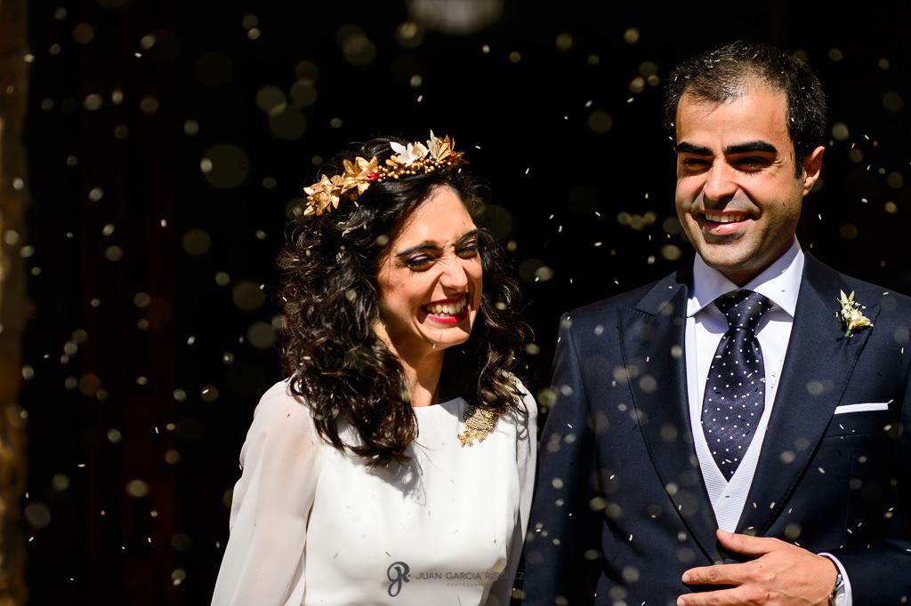 Fotografía documental de un momento real de una boda en Jaén