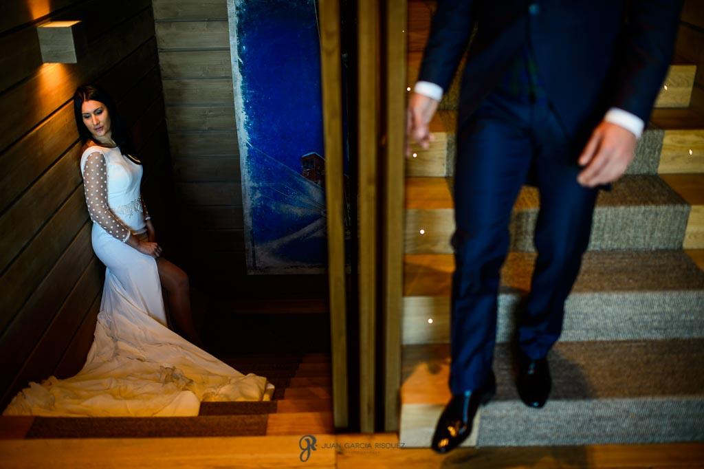 Fotografía de postboda en Sierra Nevada en el Hotel Lodge
