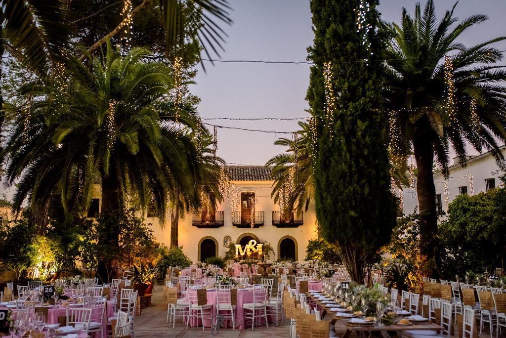 Decoración espectacular para una boda en Cortijo el Madroño de Martos, Jaén