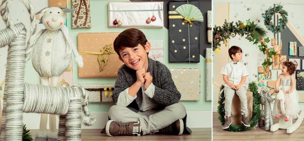 Estudio de fotografía especializado en fotos de navidad para niños en Jaén