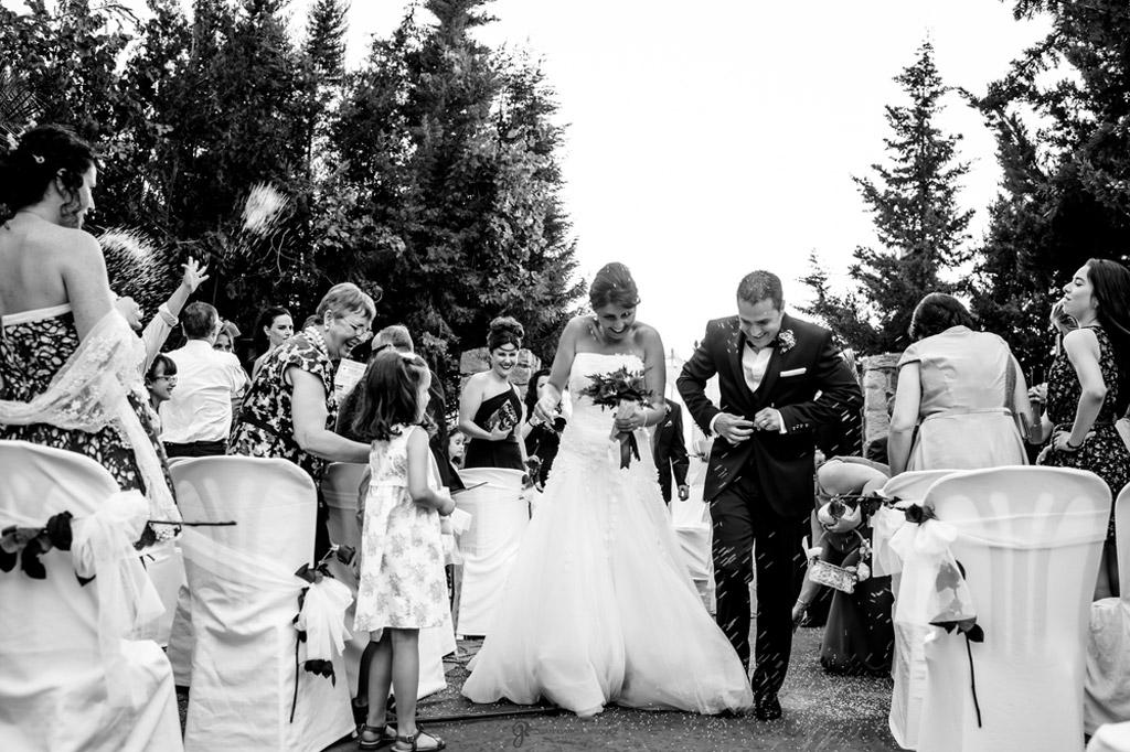 Reportaje de fotos de boda en Jaen arroz novios