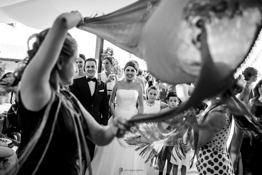 Reportaje de fotos de boda en Jaen baile flamenco novios
